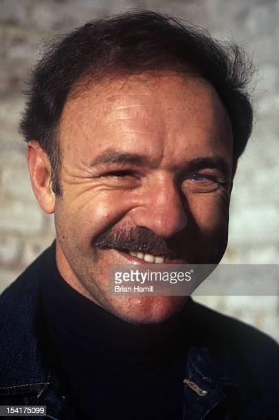 Headshot portrait of American actor Gene Hackman as he smiles San Francisco California January 1973