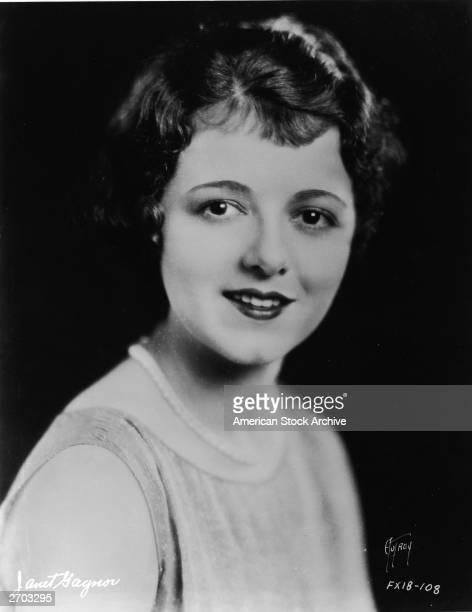 Headshot portrait of American actor Janet Gaynor circa 1930