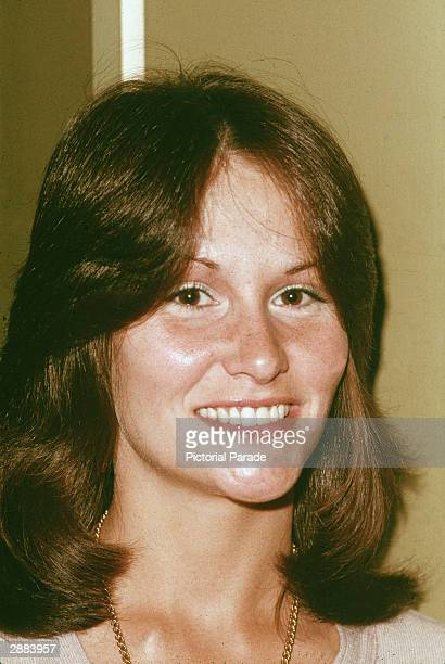Headshot portrait of American adult film actor Linda Lovelace at a press conference Los Angeles California circa 1980s