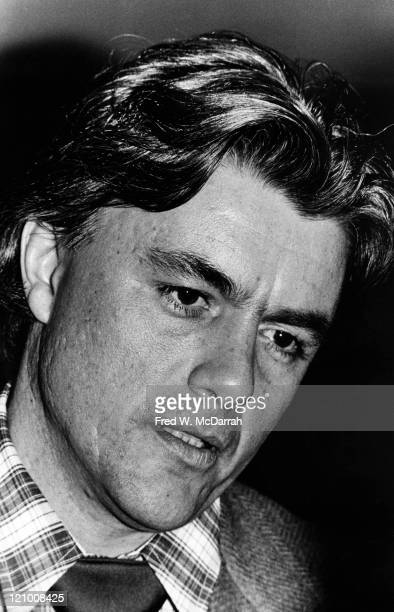 Headshot portrait of American author John Irving at the National Book Critics Circle Awards at the TimeLife auditorium New York New York January 25...