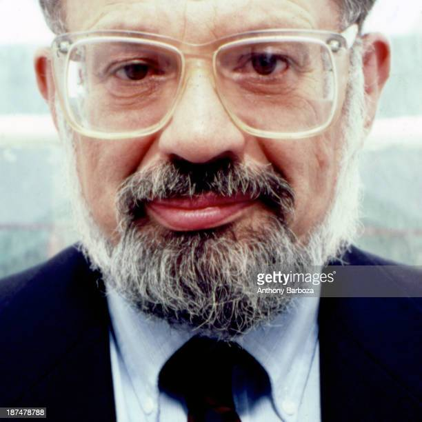 Headshot portrait of American Beat poet Allen Ginsberg New York New York 1987