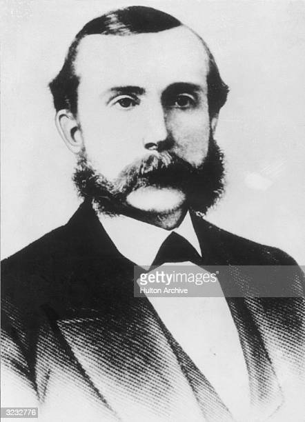 Headshot portrait of American businessman John Davison Rockefeller Sr at age 35