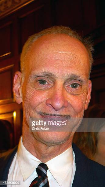 Headshot portrait of American film director and author John Waters at the Orpheum Theater Los Angeles California February 24 2014 Waters was there to...