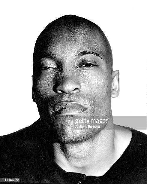 Headshot portrait of American film director John Singleton Los Angeles California 1987