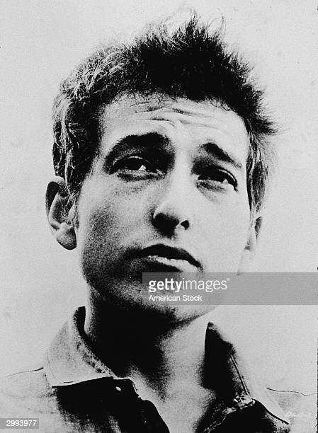 Headshot portrait of American singer and songwriter Bob Dylan circa 1963