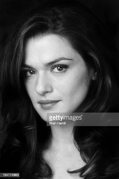 Headshot portrait of British actress Rachel Weisz Los Angeles California 2002