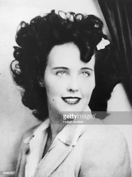 Headshot portrait of Elizabeth Short known as 'the Black Dahlia' an aspiring American actor and murder victim Short became known as Black Dahlia...