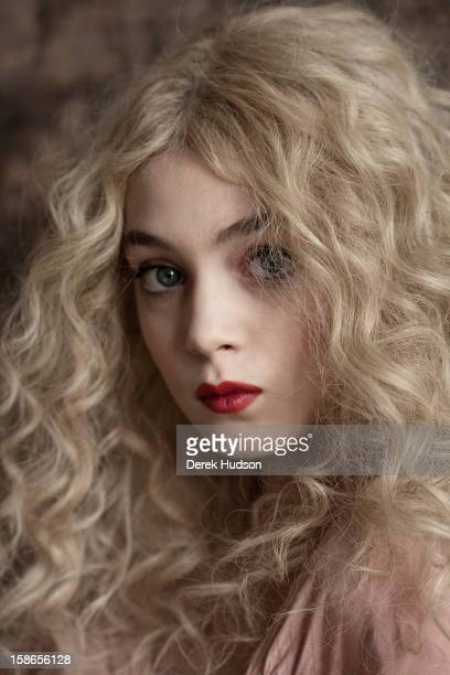 Headshot portrait of French actress Anamaria Vartolomei during a photo shoot Paris France April 13 2011 The shoot was in promotion of Vartolomei's...
