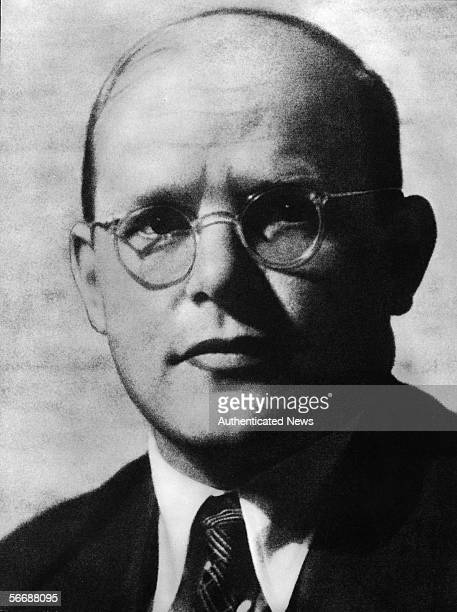 Headshot portrait of German religious leader and resistance participant Dietrich Bonhoeffer late 1930s or 1940s An outspoken critic of the Nazi...