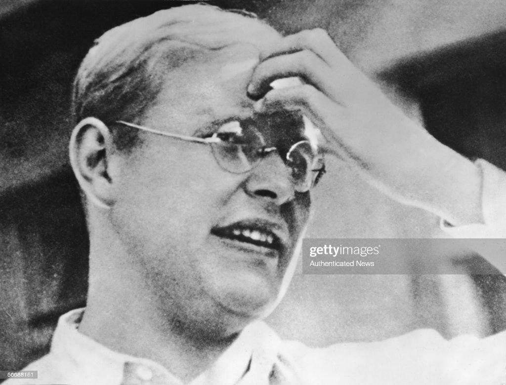 Dietrich Bonhoeffer Portrait : News Photo