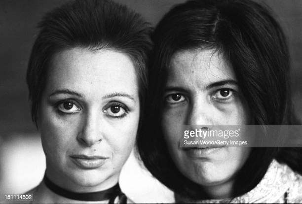 Headshot portrait of Italian actress Adriana Asti and American author critic and film director Susan Sontag 1970 Sontag directed Asti in her 1969...