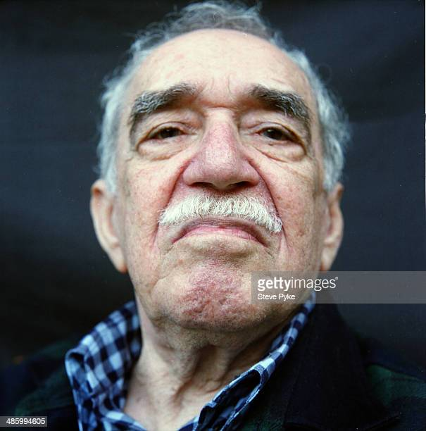 Headshot portrait of Nobel prizewinning Columbian author and journalist Gabriel Garcia Marquez Los Angeles California July 2007