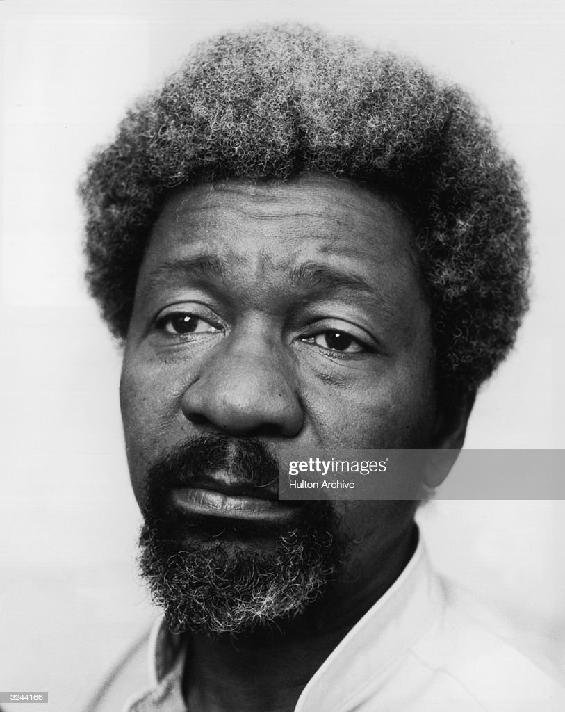Headshot portrait of Nobel Prize-winning Nigerian author Wole Soyinka.