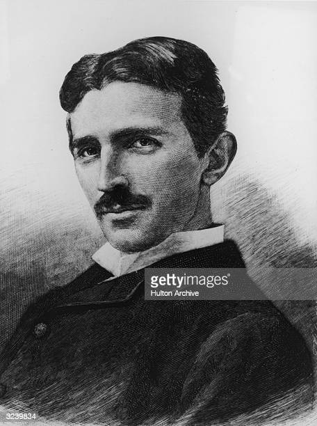Headshot portrait of SerbianAmerican physicist and electrical engineer Nikola Tesla aged 34 circa 1890 From a photograph by Napoleon Sarony