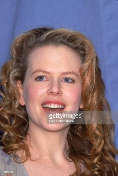 A headshot protrait of Australian actor Nicole Kidman circa 1989