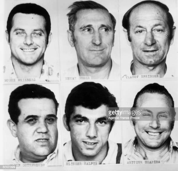 Headshots of six of the Israeli Olympic team members who were killed in the Palestinian terrorist attack at the Summer Games Munich Germany LR...