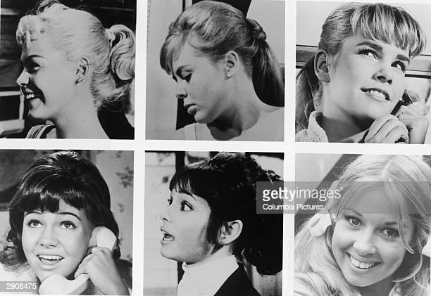 Headshots of the six actors who have portrayed the character on 'Gidget' on film and television from 1959 to 1972 Top LR Sandra Dee Deborah Walley...
