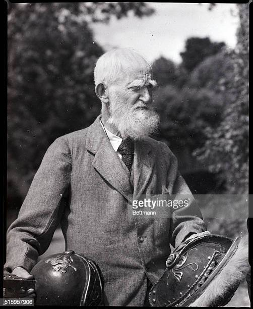 1945 Headshoulders shot of George Bernard Shaw during the filming of Caesar and Cleopatra