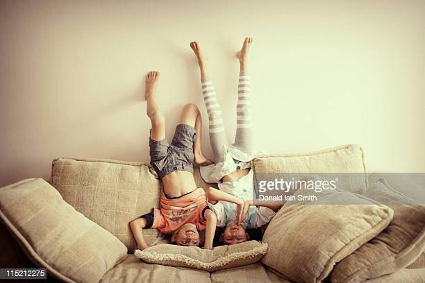 headstand - 8 9 years photos stock photos and pictures