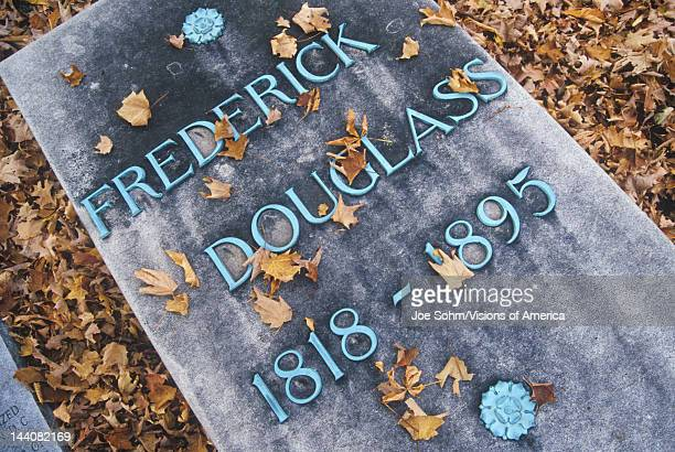 Headstone at the grave of Frederick Douglas Rochester New York