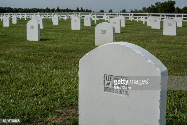 PRISON LOUISIANA OCTOBER Headstones in the Angola prison graveyard 90% of prisoners who are admitted and are locked up at Angola eventually die...