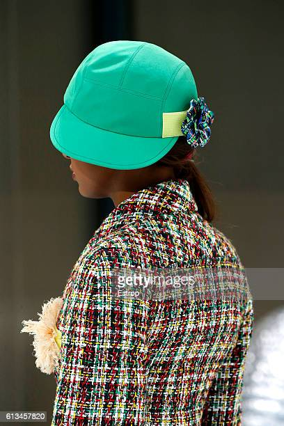 Headwear detail at the Chanel show as part of the Paris Fashion Week  Womenswear Spring  559a62a264b
