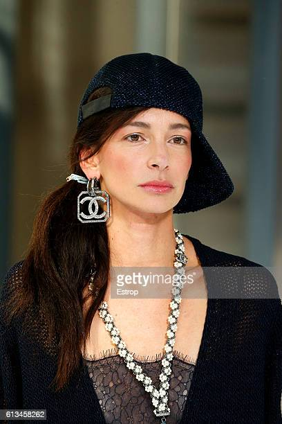 Headwear detail at the Chanel show as part of the Paris Fashion Week Womenswear Spring/Summer 2017 on October 4 2016 in Paris France