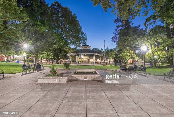 Healdsburg, Town Square at Dawn