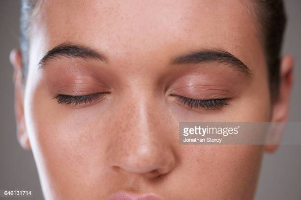 health and beauty - eyes closed stock pictures, royalty-free photos & images