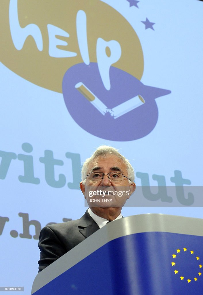EU Health and Consumer Policy commissioner John Dalli gives a joint press conference during the World No Tobacco Day at the EU headquarters in Brussels on May 27, 2010.