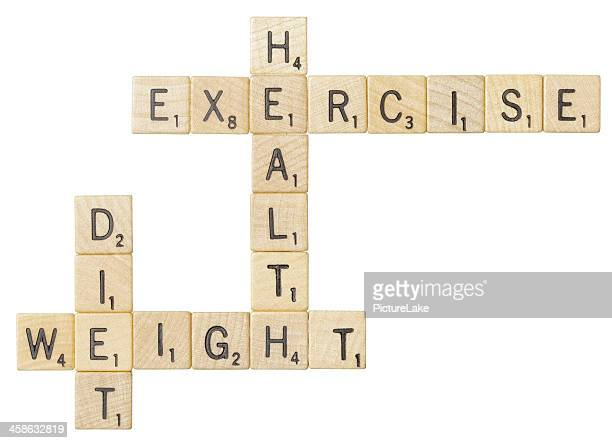 Health and diet related Scrabble tile words