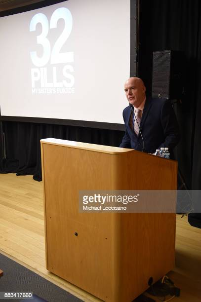 Health and Hospitals CEO at Bellevue Bill Hicks introduces the NY Special Screening of the HBO Documentary Film 32 PILLS MY SISTER'S SUICIDE at...