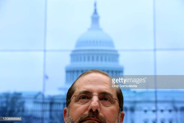 Health and Human Services Secretary Alex Azar testifies before the House Energy and Commerce Committee's Health Subcommittee in the Rayburn House...