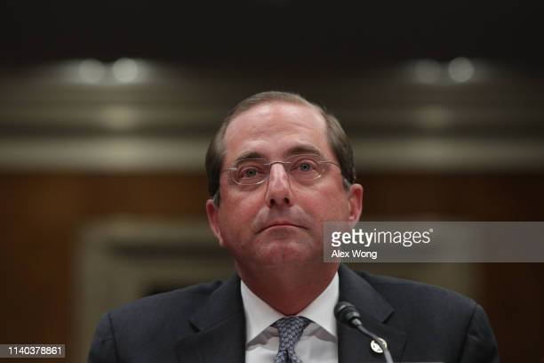 S Health and Human Services Secretary Alex Azar testifies during a hearing before the Labor Health and Human Services Education and Related Agencies...