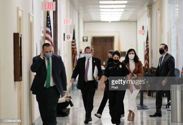 Health and Human Services Secretary Alex M. Azar II arrives to House Select Subcommittee on the Coronavirus Crisis in the Rayburn Building on October...
