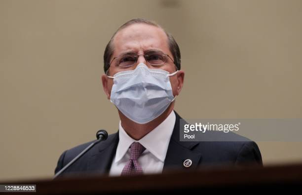 Health and Human Services Secretary Alex M. Azar II testifies before the House Select Subcommittee on the Coronavirus Crisis in the Rayburn Building...