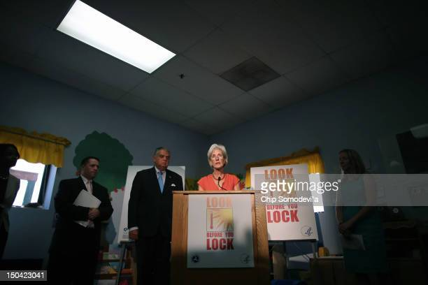 S Health and Human Services Secretary Kathleen Sebelius and Transportation Secretary Ray LaHood hold a news conference to launch the Look Before You...
