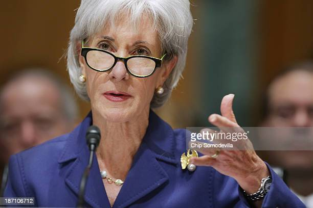 Health and Human Services Secretary Kathleen Sebelius answers questions about the errorplagued launch of Healthcaregov while testifying before the...