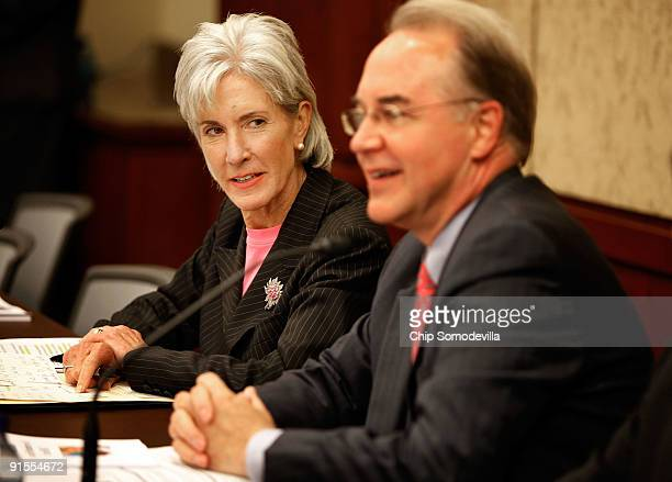 Health and Human Services Secretary Kathleen Sebelius meets with Rep Tom Price and members of the House Republican Study Group on Healthcare Reform...