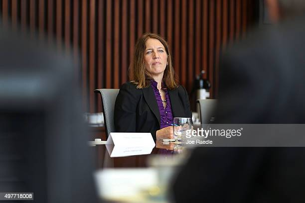 Health and Human Services Secretary Sylvia Burwell holds a round table discussion during a visit to Miami Dade College to discuss the open enrollment...