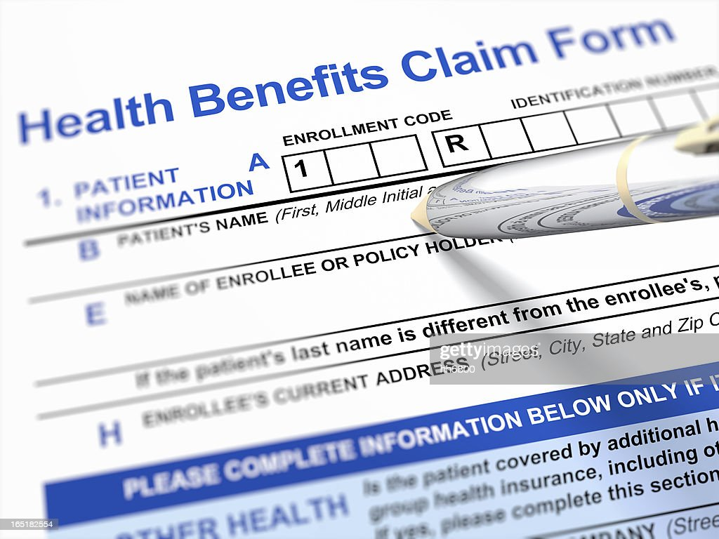 Health Benefits Claim Form : Stock Photo
