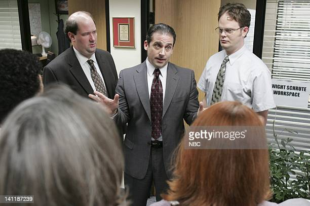 THE OFFICE Health Care Episode 3 Aired Pictured Brian Baumgartner as Kevin Malone Steve Carell as Michael Scott and Rainn Wilson as Dwight Schrute...