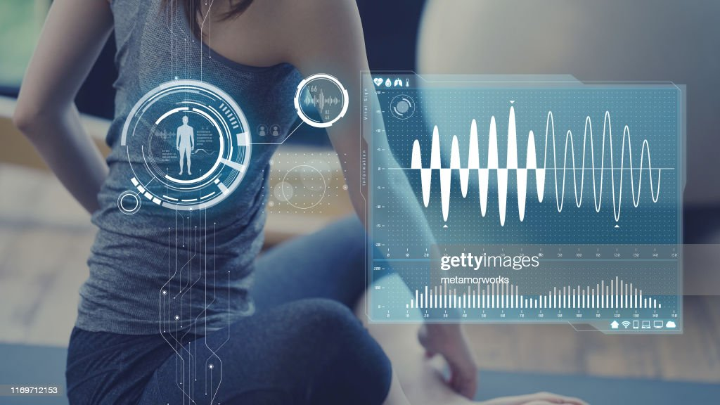 Health care technology concept. Vital sign sensing. : Stock Photo