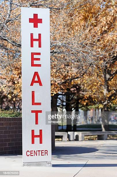 Health center sign