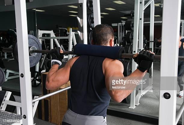 Health Club Workout - Squat Rack