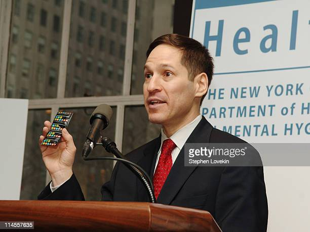 """NYC Health Commissioner Dr Thomas Friedan during Kenneth Cole Unveils a New Condom """"SafeTee"""" and Boxer Short in Celebration of Valentine's Day and..."""