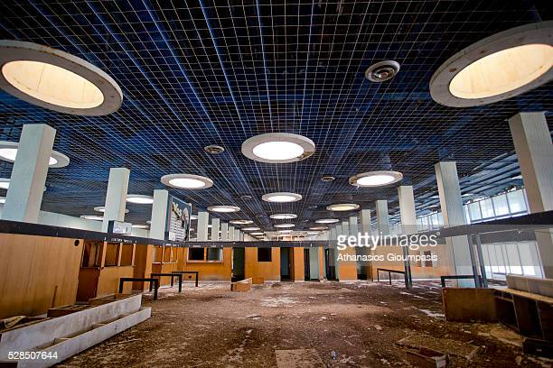 Health control area at terminal building at the abandoned Nicosia International Airport on April 28, 2016 in Nicosia, Cyprus .On 27 March 1968 a...