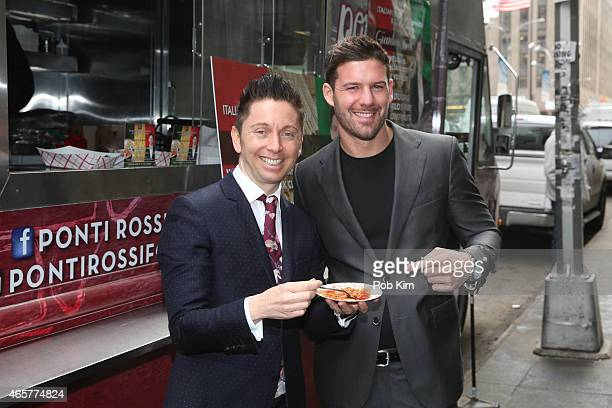 Health food expert Gianluca Mech attends Italiano Diet Launch Event at Times Square on March 10 2015 in New York City