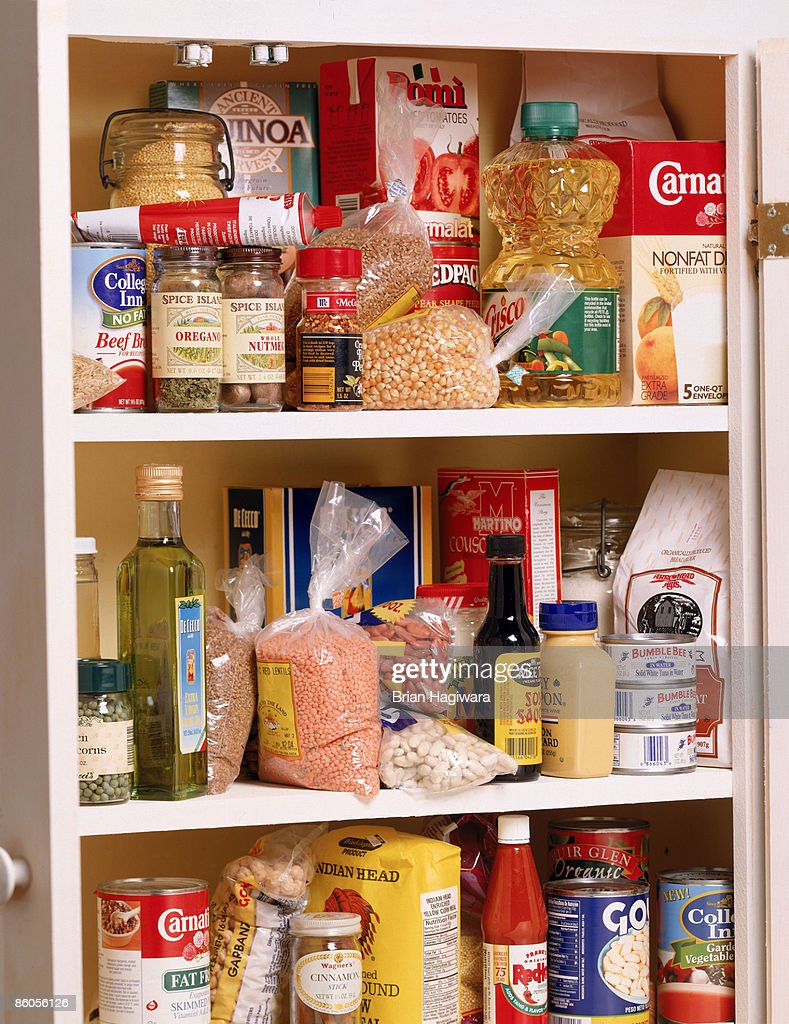 Health food in a pantry : Stock Photo