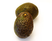 health giving mexican avocados isolated against